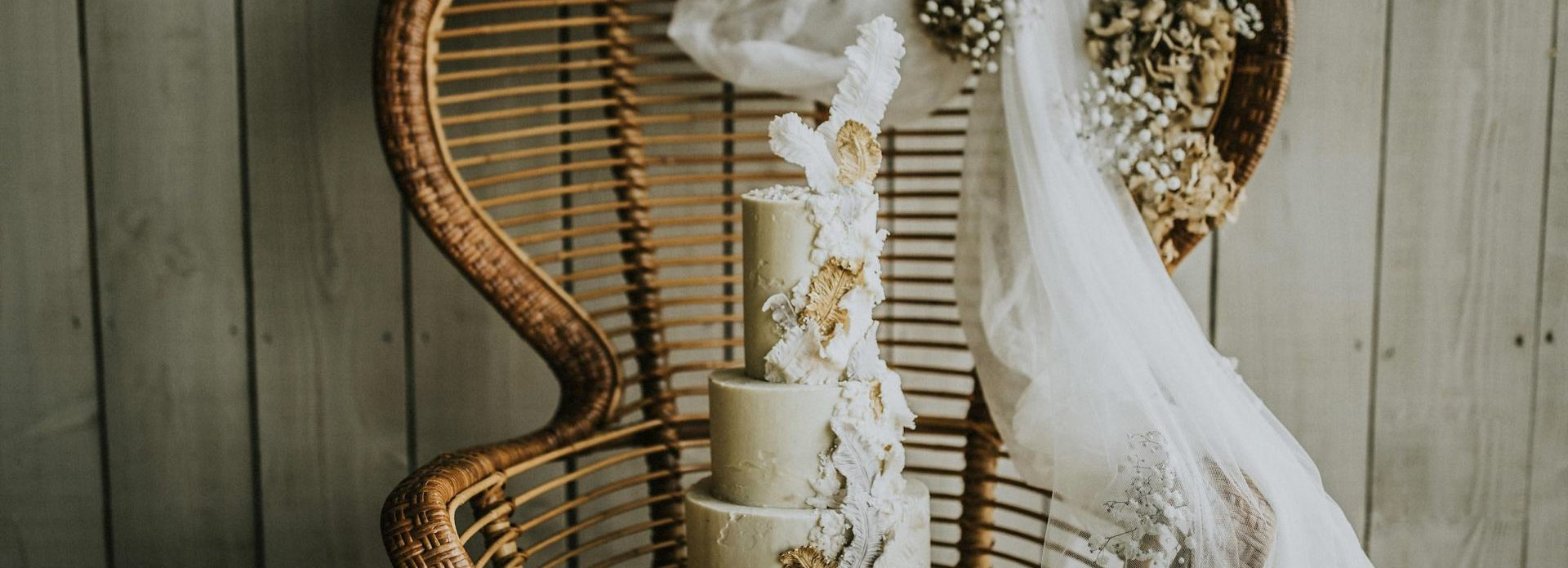 bohemian luxury feather butter cake UK
