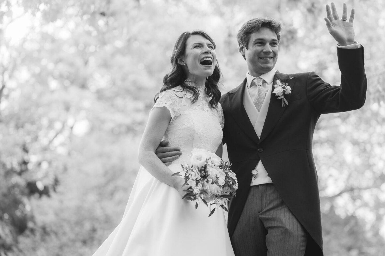 Bride and Groom traditional English wedding
