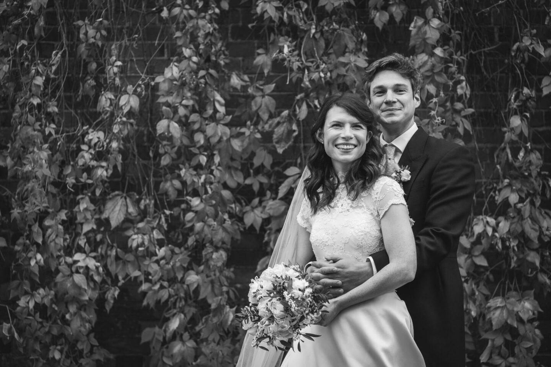 Bride and Groom Autumn English wedding
