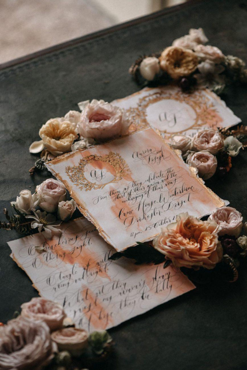 Hand made wedding stationery