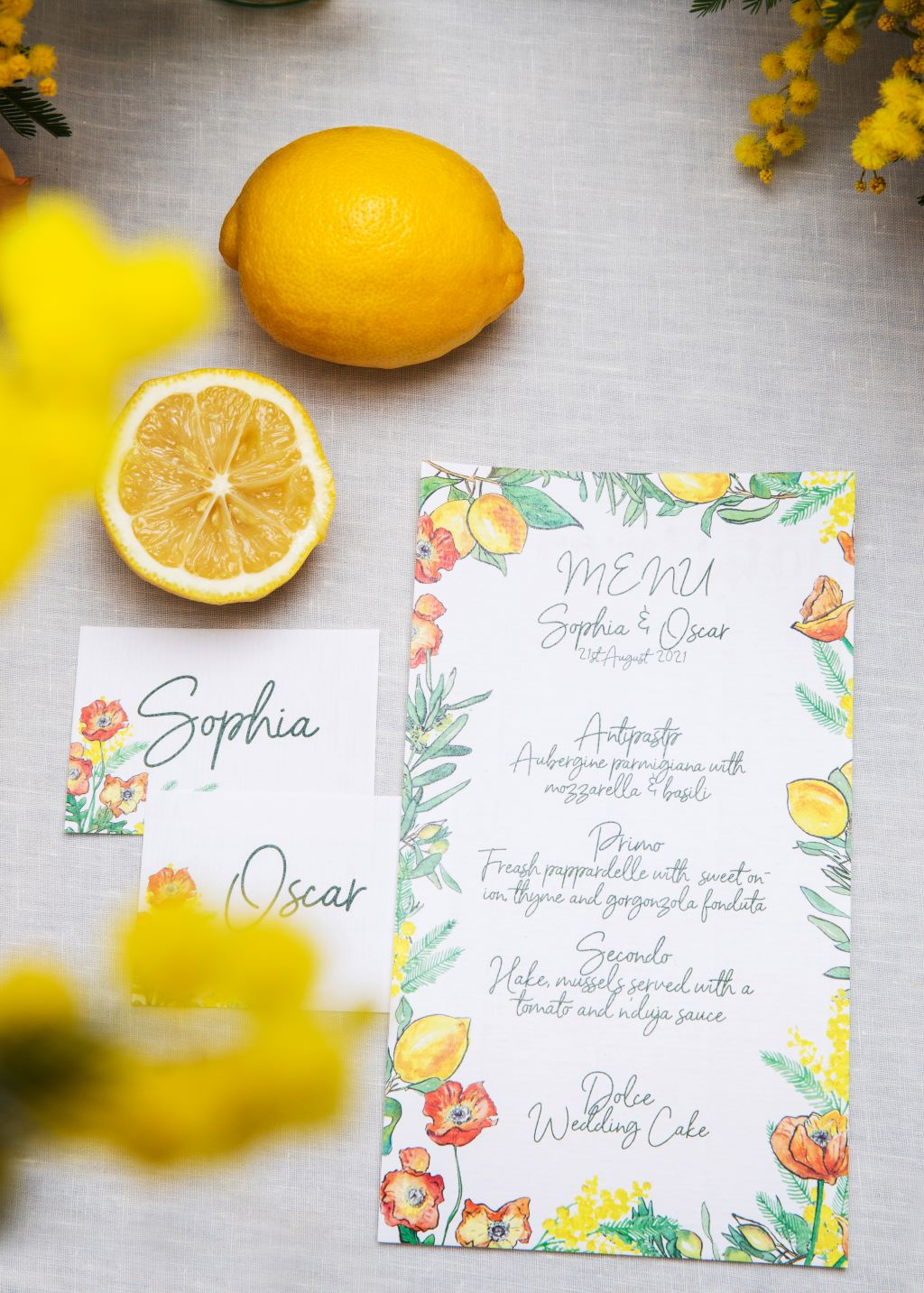 Spring wedding stationery UK