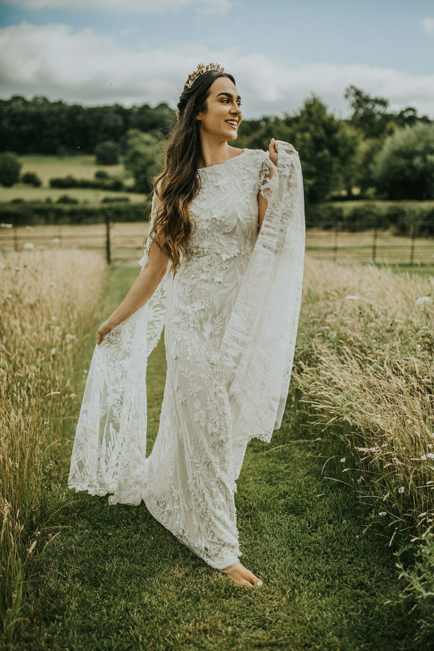 White Wisteria wedding dress