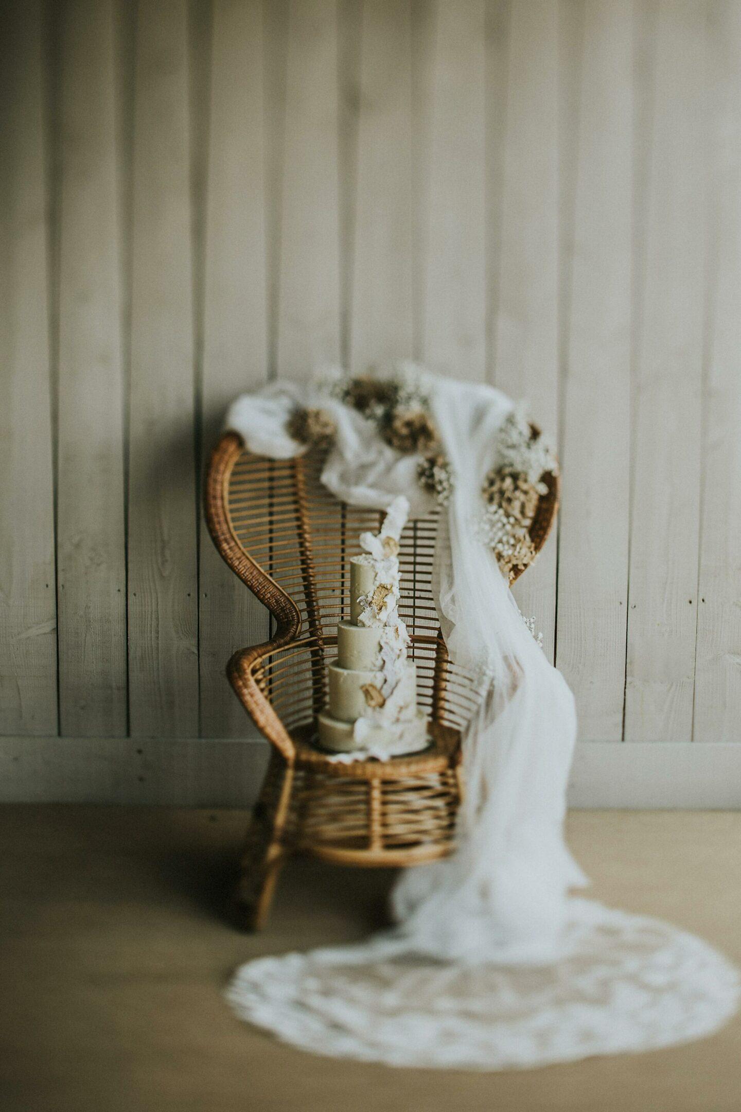 Wedding cake boho